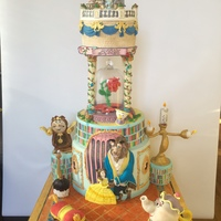 Beauty And The Beast A cake inspired by a Disney Snowglobe, pictured in the last pic, loved this theme as was for my partners Birthday, fell in love with all...