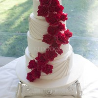 This Was A Recent Wedding Cake Which Was Originally Meant To Be Plain With The Roses But After Seeing Photos Of The Brides Dress I Suggest... This was a recent wedding cake which was originally meant to be plain with the roses, but after seeing photos of the bride's dress I...