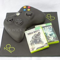 X Box Controller For An 18Th Birthday With Personalised Edible Game X-box controller for an 18th Birthday, with personalised (edible) game.
