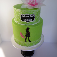 Wafer Paper And Buttercream Baby Shower Cake Wafer paper and buttercream baby shower cake