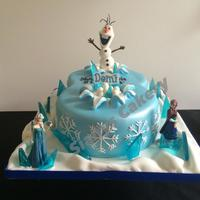 Number 8 Frozen Themed Cake Number 8 Frozen themed cake