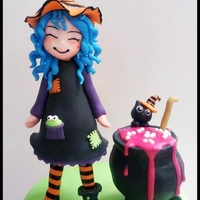 Messy Witch my messy witch has lost her shoe, everything is made from modelling chocolate and fondant :)