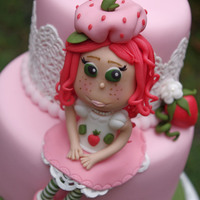 A Close Up Of My Fondant Strawberry Shortcake Gal   A close up of my fondant Strawberry Shortcake gal. :-)