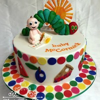 Very Hungry Caterpillar Cake made for a teacher friend, ordered by her mum (the school librarian) :D chocolate cakes in SMBC filling and marshmallow fondant everything...