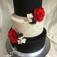 2 Tiers Vanilla Cake With Swiss Meringue Butter Cream Filling And Marshmallow Fondant 1 Tier Bottom Styrofoam Roses And Flowers Handma 2 tiers vanilla cake with swiss meringue butter cream filling and marshmallow fondant, 1 tier (bottom) styrofoam. roses and flowers...