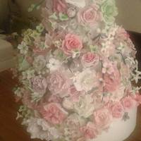 My Daughters Wedding Cake Thanks To All The Talented People On Cc The Bride And Groom Loved It X My daughters wedding cake, thanks to all the talented people on CC. The bride and groom loved it. x