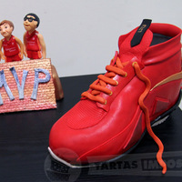 A Basket Shoe For Children Team's Mvp