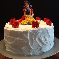 Snow White With Fondant Roses And Buttercream Snow White , with fondant roses and buttercream