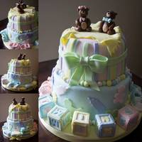 Baby Shower Cake Composite