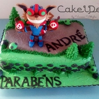 League Of Legends - Lol Birthday cake with the theme League of Lengends and with the final piece Ziggs.