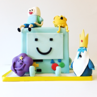 Adventure Time Birthday Cake Just loved making all of the gumpaste figures for this cake, such a fun design!