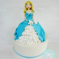 Blue Princess I made from fondant .