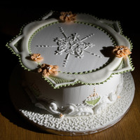 This Is One Of The Two Cakes I Made On The Pme Royal Icing Course It Was Very Fun To Do This is one of the two cakes I made on the PME Royal Icing course. It was very fun to do :-)