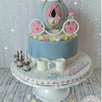 Cinderella Is Ready For The Ball Hello lovely cake friends, I made this cake for my colleague, the only specification of her was for the cake princess and pink. I did it...