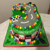 Race Track Cake (Client Adding Cars Herself)