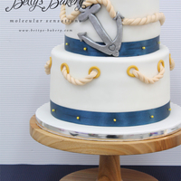 "Nautical Weddingcake Nautical Weddingcake for beautiful swedish sailor couple Victoria & Daniel who got married this weekend in Barcelona. Stand ""..."