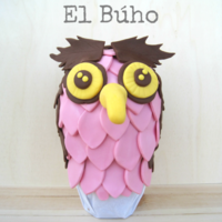 The Owl - El Búho For Easter Fondant, chocolate egg you create a original Owl for Easter