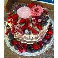 Madeira With Vanilla Buttercream And Sugared Fruits For A 69Th Birthday Cake Madeira with vanilla buttercream and sugared fruits for a 69th Birthday Cake!