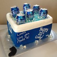 Beer Cooler 21St Birthday Cake Beer cooler 21st Birthday cake