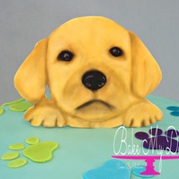 Hand Painted Gum Paste Puppy Hand painted gum paste puppy