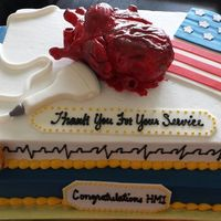 Heart Cake   For someone in the Navy Retirement party. He worked in the Cardiology Dept. Tfl