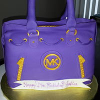 Michael Kors Purse   My first time ever making a purse cake. Think it came out great for my first try.