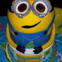 Despicable Me Minion Cake   My first run at a minion. I think it came out ok! Tfl...
