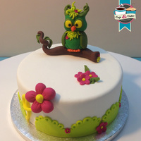 Little Cute Owl Cake Little cute owl cake.