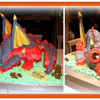 Dragon Cake With Fondant DRAGON CAKE WITH FONDANT !