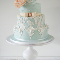 Vintage Lace Weddingcake Weddingcake inspired by Cotton and Crumbs.