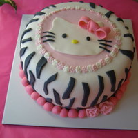 Hello Kitty   for a 9 year old girl. All fondant.