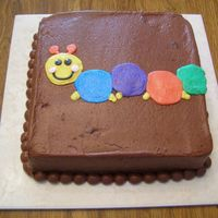 Chocolate Baby Einstein Cake  This was in addition to the Baby Einstein caterpillar cake that I did for my nephew. Some people at the party wanted chocolate cake w/...