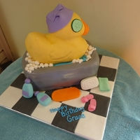 Spa Theme Birthday Cake All decorations and cakes covered in MMF. Thanks for looking!