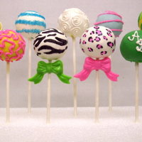 Assortment Of Cake Pop Styles Display of cake pop decorating ideas.