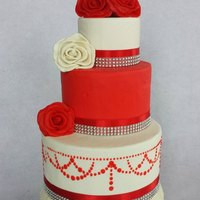 Wedding Cake Red and white Wedding cake