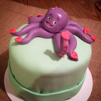 Be Mine Octopus Be Mine Octopus, chocolate cake with chocolate frosting and MMF fondant.