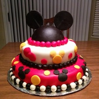 Disney World Surprise We wanted to surprise the kids with a trip to Disney World, and I found this idea for a Mickey Mouse cake on Pinterest. This was the first...