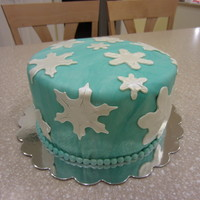 Winter Snowflake Cake.   First cake in two years. I hate fondant. I had forgotten how much.