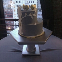 Love Birds love the graphic look of this cake and the view from the venue, downtown L.A. doesn't get better....:-)
