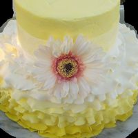 Yellow Buttercream Wedding Cake With Fondant Ruffles  This was my first attempt at a ruffle cake, I have been looking forward to an opportunity to finally try it. Learned a lot, and can't...