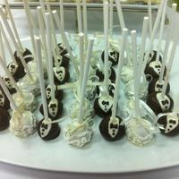 Cake Pops Bride and Groom cake pops