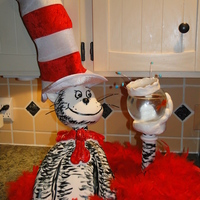 Dr Suess' Cat In The Hat For my children's Read Across America Dr. Suess themed cake event at their school. My daughter's came up with the idea of having...