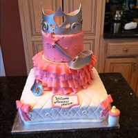 Princess Baby Shower replicated from a pic the customer provided. I'm sorry I can't give proper credit as I don't know who the originator was