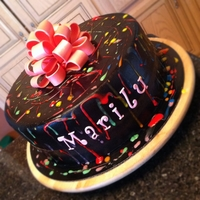 Happy Birthday Marilu pain splatter cake