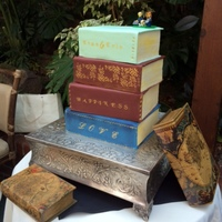 My First Stack Of Books Wedding Cake All Fondant Stenciled With Gold Luster Dust The Bride Wanted Them To Look Like They Were Old Books My first stack of books wedding cake. All fondant, stenciled with gold luster dust. The bride wanted them to look like they were old books...