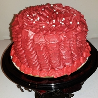 Ruffled Valentine's Cake Wanted to do the ruffle technique, so I did this one and took it to work.