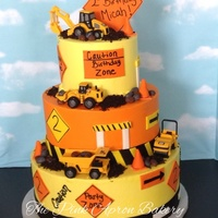 Construction Cake Buttercream With Fondant Details Construction cake, buttercream with fondant details.
