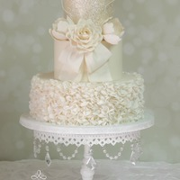Tiffany   One of new 2015 wedding cake design.This Bride was so excited to be the first to usethis design.