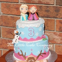 Frozen Cake birthday cake for my cousins daughter :) My fifth frozen cake!