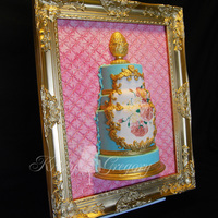 Framed Rococo Wedding Cake This was my entry into the Cake Fest competition recently in La. Cake is fondant covered and decorated, backboard is also covered and...